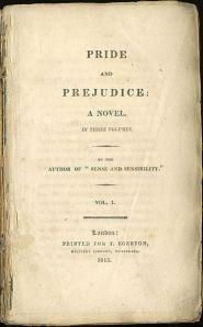 Pride and Prejudice title page