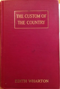 First edition of The Custom of the Country