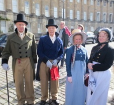 Anita and Lou and friends at the Jane Austen Festival