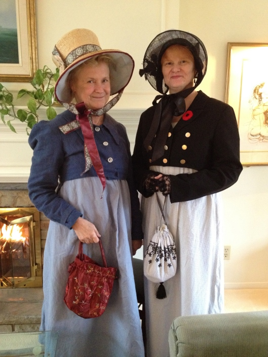 Anita and Lou in their Regency finery