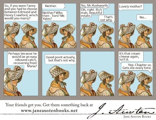 Jane Austen Books Mansfield Park comic ad