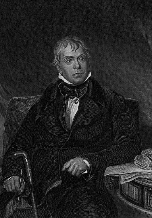 Sir Walter Scott, Image from Novels 1780-1920, Rare Books and Special Collections, University Library, University of Sydney