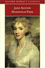 Mansfield Park, Oxford World's Classics edition