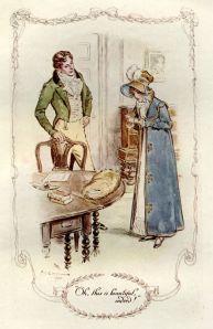 Fanny and Edmund, illustration by C. E. Brock
