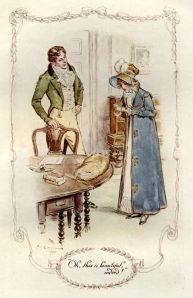 Fanny and Edmund, illustration by C. E. Brock