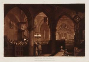 """Interior of a Church,"" by J.M.W. Turner"
