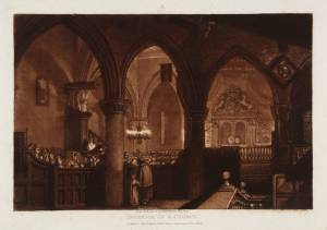"""Interior of a Church,"" by J.M.W. Turner"