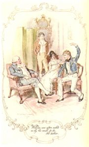 """William was often called on by his uncle to be the talker."" Illustration by C.E. Brock."
