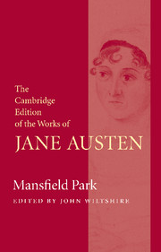 Mansfield Park, Cambridge edition