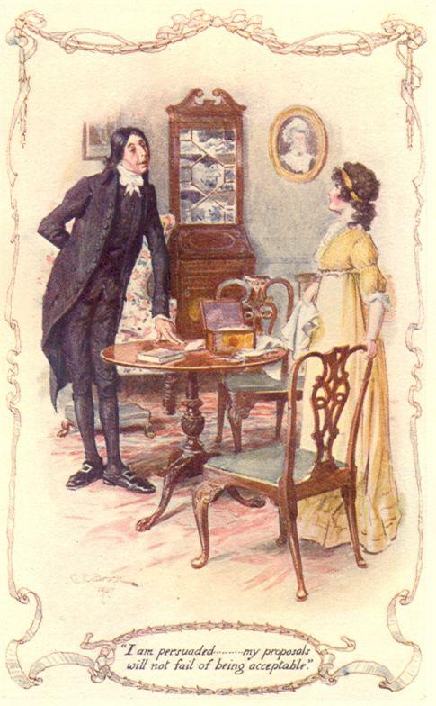 Mr. Collins and Elizabeth Bennet