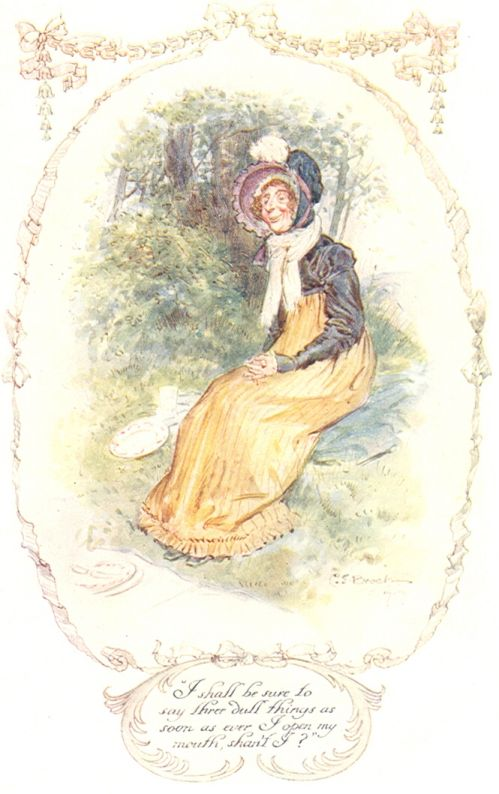 Miss Bates, illustration by C.E. Brock