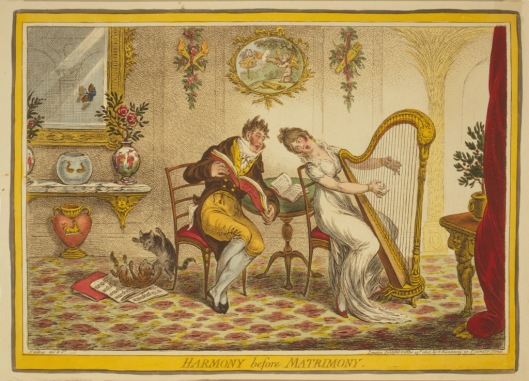 Harmony Before Matrimony Gillray 1805