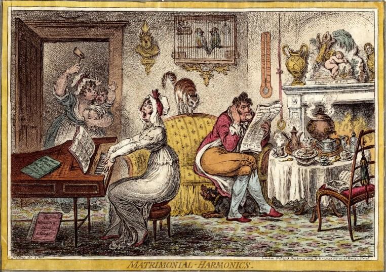 Matrimonial Harmonics cr - James Gillray 1805