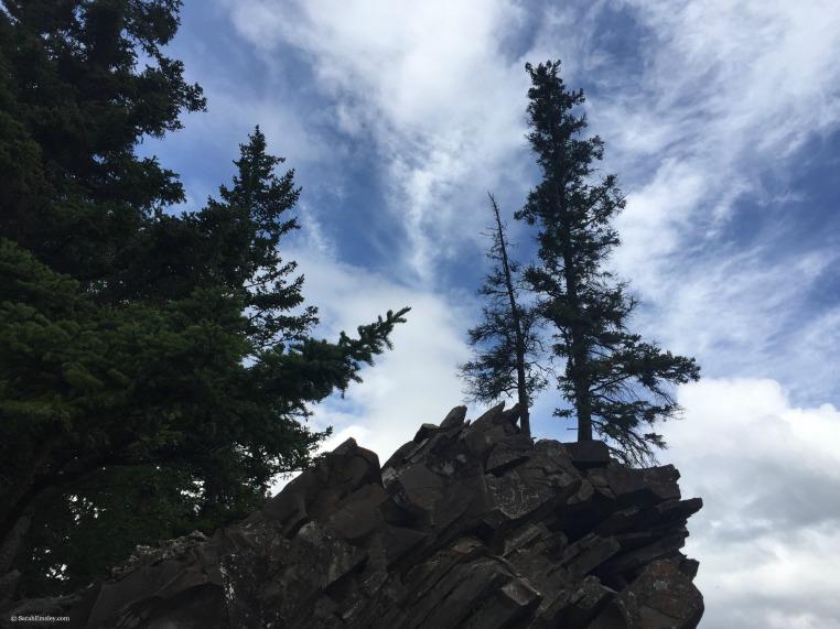 Rocks at Bow Falls