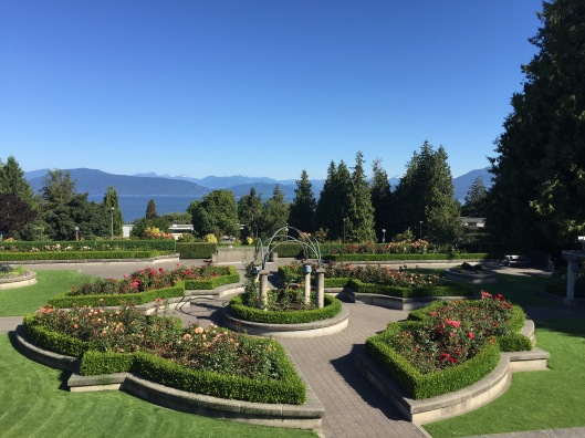 The Rose Garden at the University of British Columbia