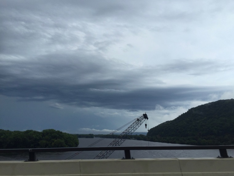 Arriving in La Crosse, Wisconsin, after we crossed the Mississippi River