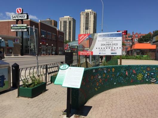 The Republic of Love Bookmark at the corner of River and Osborne, Winnipeg, Manitoba