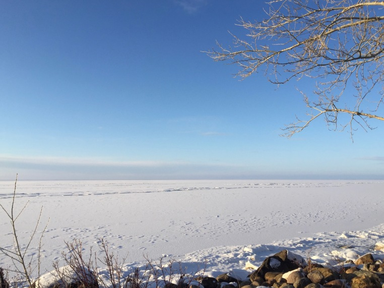 Lake Newell in winter