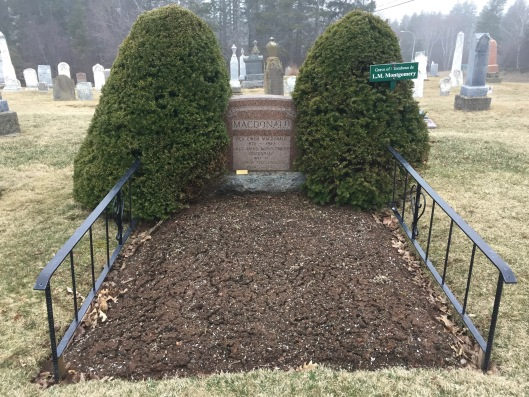 L.M. Montgomery's grave