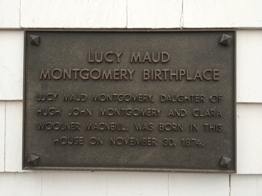 Lucy Maud Montgomery Birthplace plaque