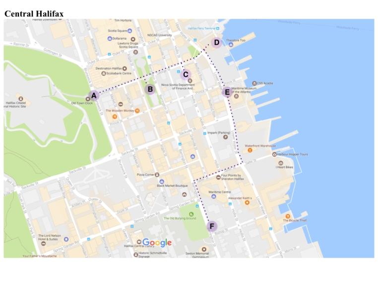 Central Halifax map