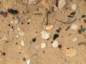 Bermuda sand and sea glass