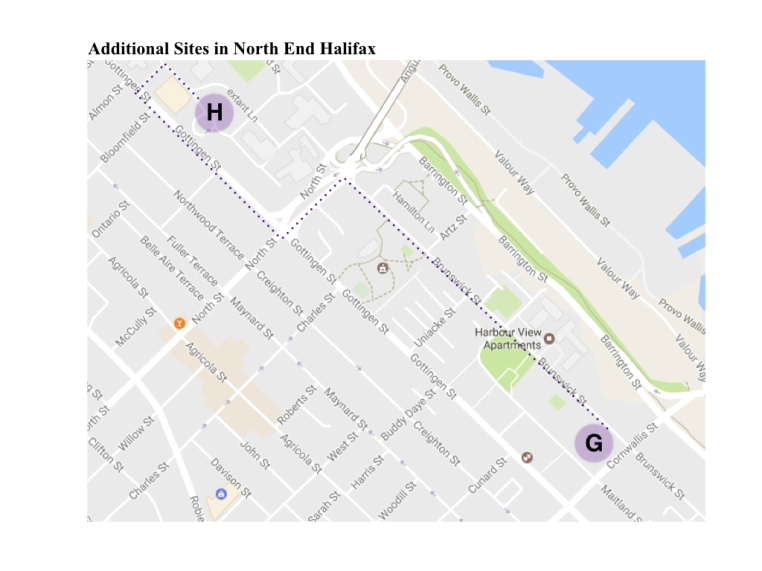 Additional Sites in North End Halifax