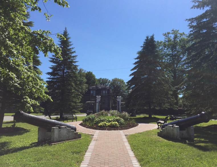 View from the front steps of Admiralty House, Halifax, Nova Scotia
