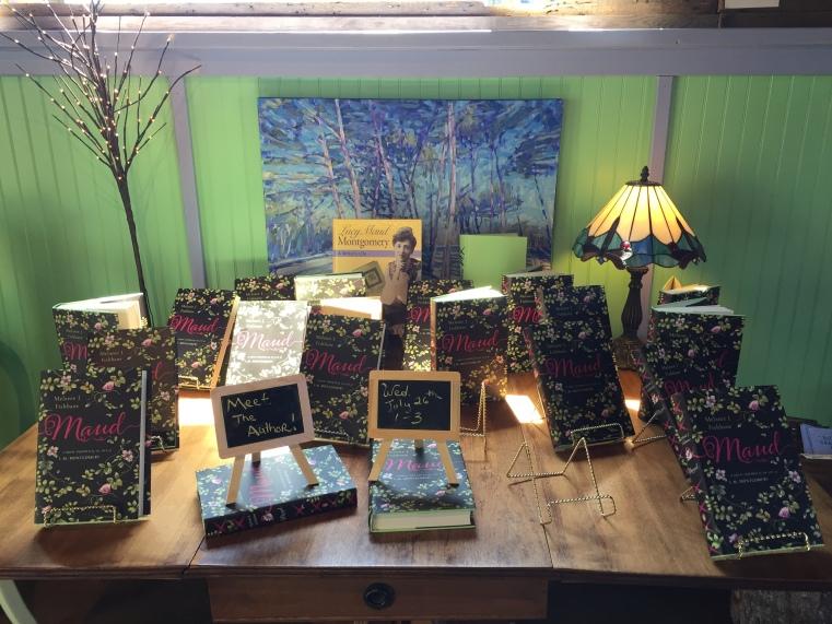 Melanie Fishbane's novel Maud, on display at Mabel Murple's Bookshoppe & Dreamery