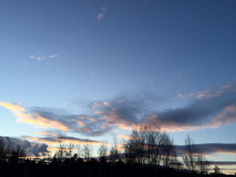 November evening in Nova Scotia