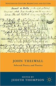 John Thelwall Selected Poetry and Poetics