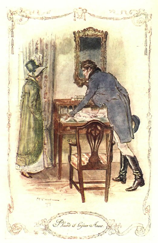 """""""Placed it before Anne."""" Illustration by C.E. Brock (from Mollands.net)"""