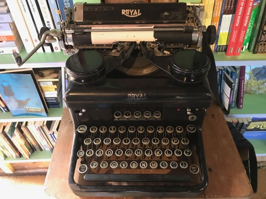 Royal typewriter at Mabel Murple's Book Shoppe & Dreamery